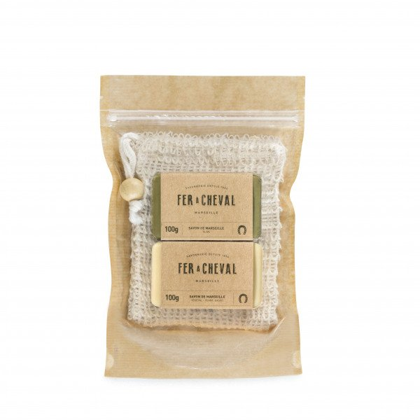 Travel kit Marseille soaps & soap bag