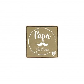 Olive Marseille Soap Cube customised Papa je t'aime 100g